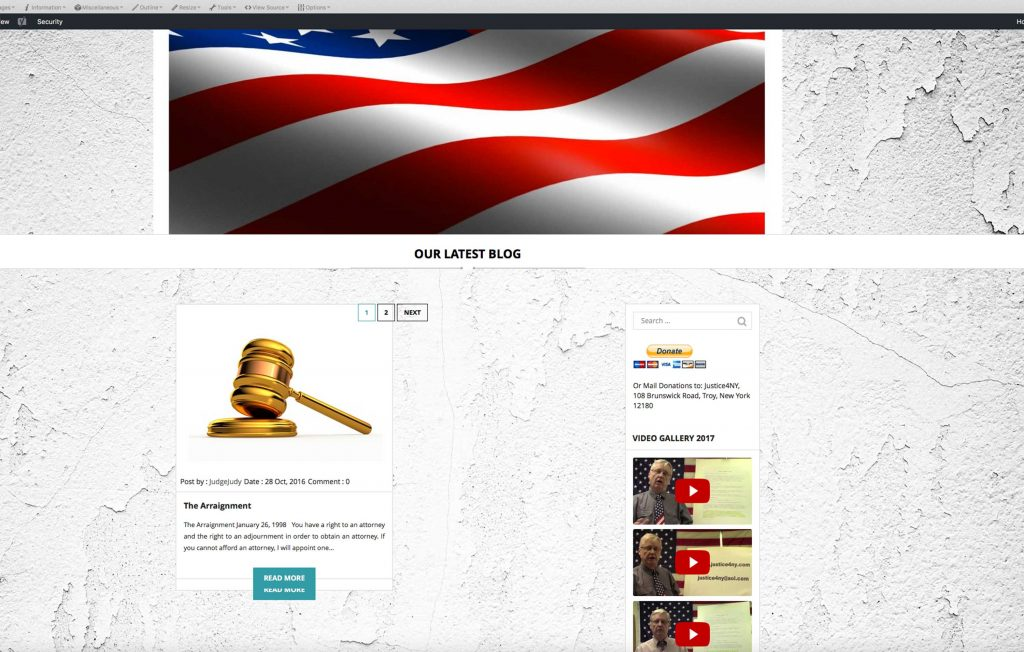Legal Theme Screenshot